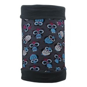 Бандана утепленная 4fun Polartec Reversible Kid Owl Grey
