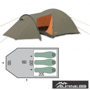 Палатка туристическая Pinguin Horizon 3 New