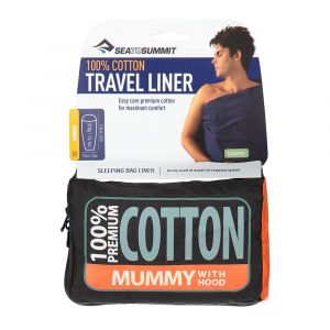 Вкладыш в спальный мешок Sea to summit Premium Cotton Travel Liner Long